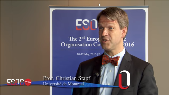 ESOC 2016 -ARUBA study – Prof. Kennedy Lees interviews Prof. Christian Stapf