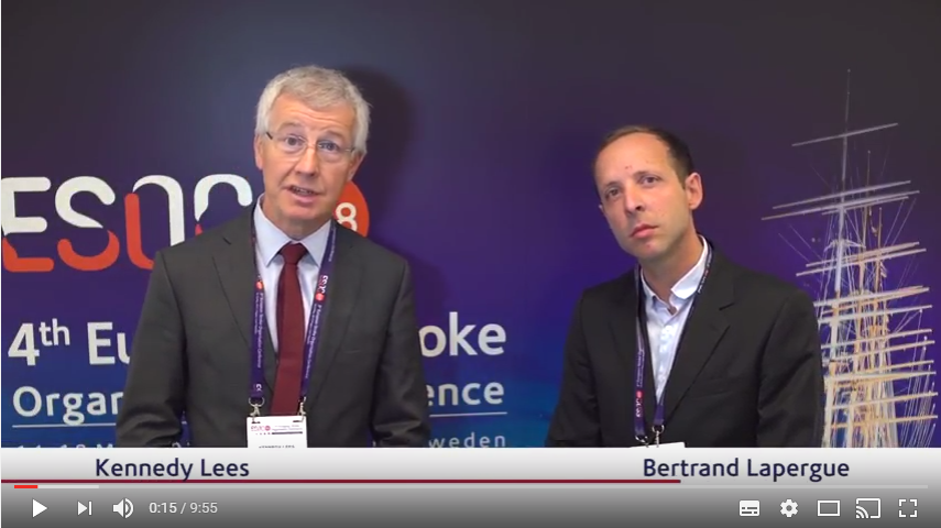 ESOC 2017 – Bertrand Lapergue talks about the ASTER trial
