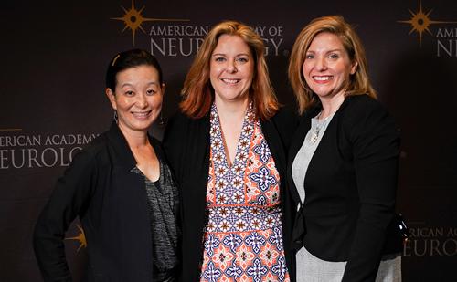 Veronica Santini, Jennifer Bickel & Meeryo Choe, AAN 2019 – Women in neurology